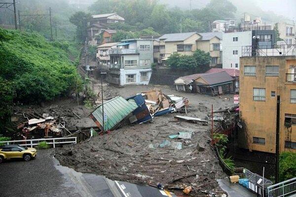 رانش زمین در ژاپن با 2 کشته و حداقل 20 مفقود